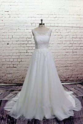 Button Keyhole Back Knee Length Natural Waist A-Line Wedding Dress