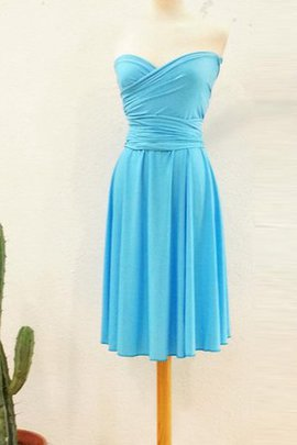 Simple Romantic Knee Length Informal & Casual Sleeveless Bridesmaid Dress