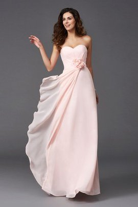 Flowers A-Line Long Sweetheart Bridesmaid Dress