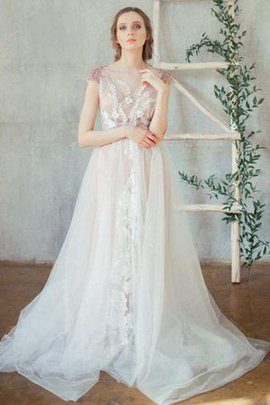 Lace Capped Sleeves Vintage Button Beading Wedding Dress