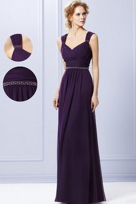 Beading A-Line V-Neck Tiered Bridesmaid Dress