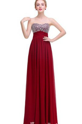 Empire Waist A-Line Sequined V-Neck Sleeveless Prom Dress