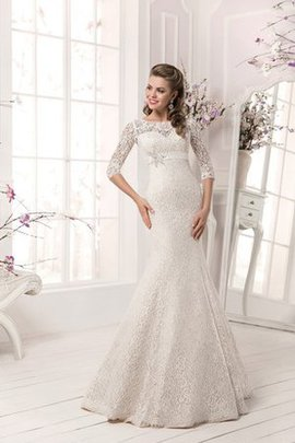 Elegant & Luxurious Beading Scalloped-Edge Floor Length Lace-up Wedding Dress