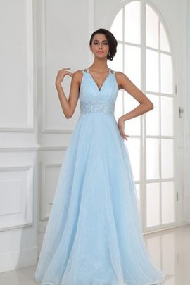 Elegant & Luxurious Beading Halter Floor Length Evening Dress