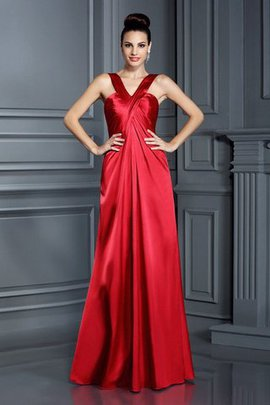 Wide Straps Floor Length Zipper Up Elastic Woven Satin Princess Bridesmaid Dress