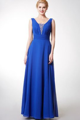 Deep V-Neck Chiffon Romantic Zipper Up Elegant & Luxurious Bridesmaid Dress