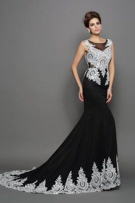 Empire Waist Lace Chiffon Sleeveless Mermaid Evening Dress