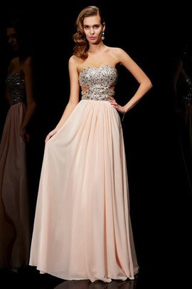 A-Line Floor Length Long Sweetheart Evening Dress