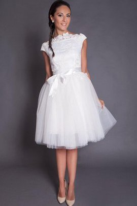 Satin Zipper Up Tulle Informal & Casual Wedding Dress