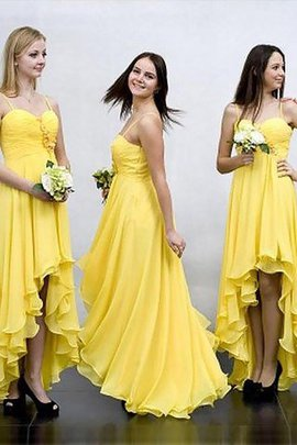 Sleeveless Natural Waist A-Line Chiffon Bridesmaid Dress