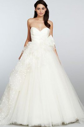 Pleated Sexy Ball Gown Floor Length Sweetheart Wedding Dress