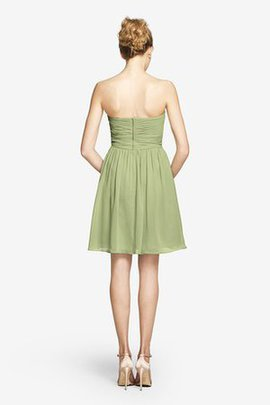 Ruched Short Criss-Cross Sweetheart Bridesmaid Dress