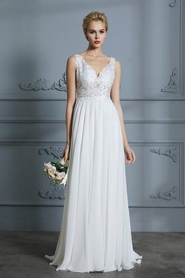 Outdoor Sleeveless Embroidery Winsome Church Simple Zipper Up Wedding Dress