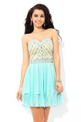 Sweetheart Beading Sleeveless Princess Short Cocktail Dress