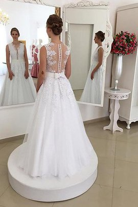 Mermaid Sleeveless Lace Sweep Train Scoop Wedding Dress