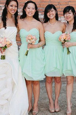 Natural Waist Short Sleeveless A-Line Chiffon Bridesmaid Dress
