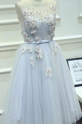 Vintage Chic & Modern Keyhole Back Bow Flowers Homecoming Dress