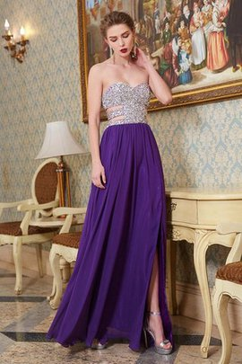 Floor Length Backless Chiffon Natural Waist Princess Prom Dress