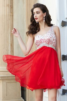 Princess Beading Chiffon One Shoulder Backless Prom Dress
