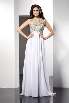 Princess Bateau Floor Length Chiffon Long Evening Dress