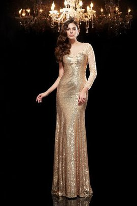 Mermaid Sequins Natural Waist Lace Long Evening Dress