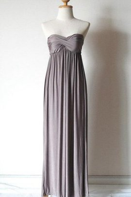 Sleeveless Chiffon Ruched Strapless Floor Length Bridesmaid Dress