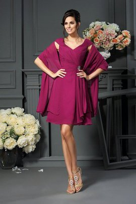 A-Line V-Neck Draped Zipper Up Natural Waist Mother Of The Bride Dress