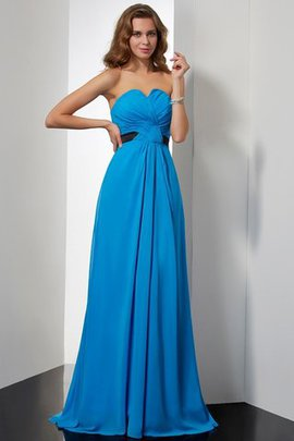 Long A-Line Sweep Train Sleeveless Sweetheart Evening Dress