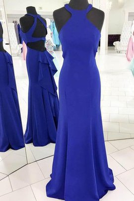 Halter Chic & Modern Ruffles Sleeveless Sheath Prom Dress