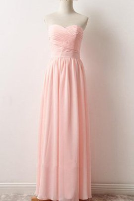 Chiffon Sleeveless Lace Sweetheart A-Line Bridesmaid Dress