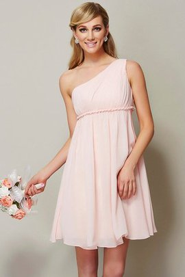 A-Line Sashes Chiffon Sleeveless Bridesmaid Dress