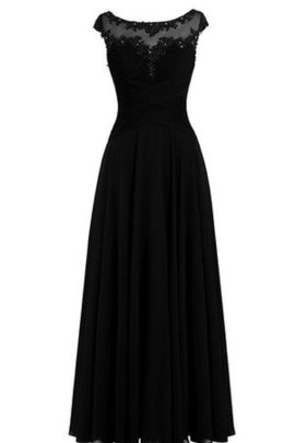 Capped Sleeves Short Sleeves Zipper Up Simple Floor Length Prom Dress