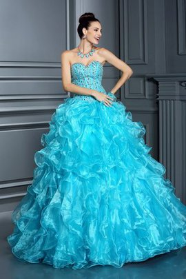 Floor Length Empire Waist Long Sleeveless Sweetheart Quinceanera Dress