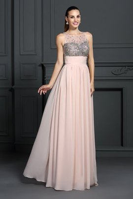 Sleeveless Long A-Line Floor Length Evening Dress