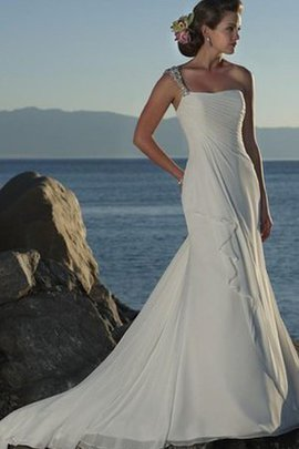 Sweep Train Sheath Beading Sleeveless Beach Wedding Dress