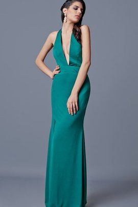 Split Front Halter Sleeveless Backless Evening Dress