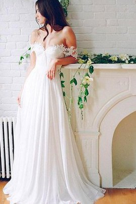 Floor Length Zipper Up Pleated Informal & Casual Wedding Dress