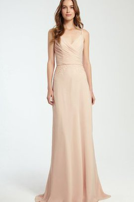 Ruched Elegant & Luxurious Appliques Spaghetti Straps Sleeveless Bridesmaid Dress