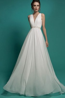Empire Waist Pleated Ruched A-Line Appliques Wedding Dress
