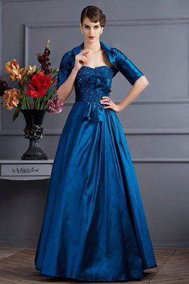 Floor Length Taffeta Empire Waist Sleeveless Zipper Up Mother Of The Bride Dress