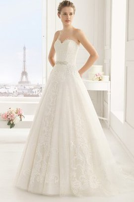 Natural Waist Capped Sleeves Sweetheart Sashes Wedding Dress