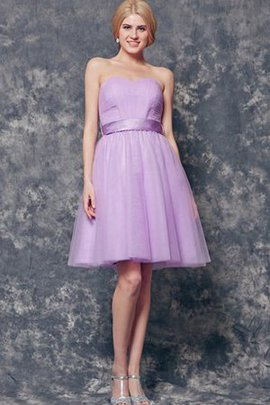 Sashes Sweetheart Zipper Up Simple Bridesmaid Dress