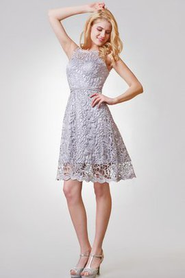 Lace Bateau A-Line Sleeveless Simple Cocktail Dress