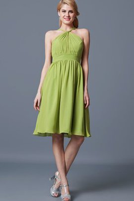 Halter Sleeveless A-Line Pleated Chic & Modern Bridesmaid Dress