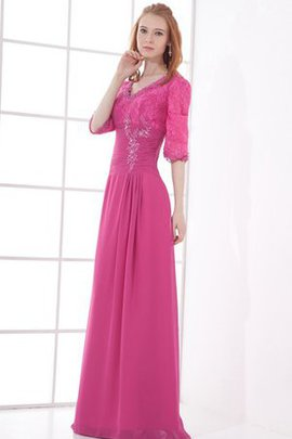 Sheath Elegant & Luxurious V-Neck Long Evening Dress