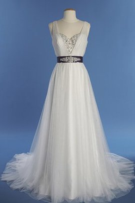 V-Neck Lace Fabric Chic & Modern Pear Thin Wedding Dress