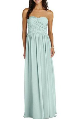 Strapless Floor Length Ruched A-Line Chiffon Bridesmaid Dress