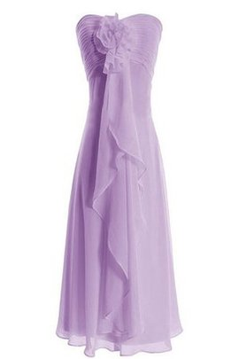 Chiffon Strapless Ruffles Zipper Up A-Line Bridesmaid Dress