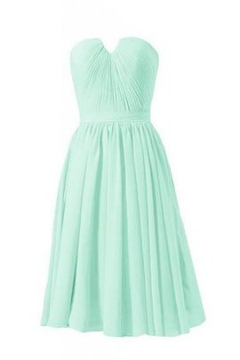 Pleated Zipper Up Strapless Chiffon A-Line Bridesmaid Dress