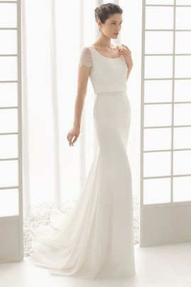 Sheath Chic & Modern Lace Romantic Modest Wedding Dress